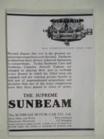 Publicité Moteur D'Avion Anglais  - 12 Cyl. SUNBEAM COATALEN Aircraft Engine   - Coupure De Presse De 1917 - Advertenties