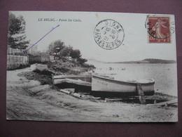 CPA 83 SIX FOURS LES PLAGES LE BRUSC Pointe Baie Ste Sainte Cécile RARE PLAN SEPIA  1921 - Six-Fours-les-Plages