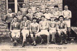 CPA De L'équipe 1ére De Rugby De ST-BERAIN Sur DHEUNE En 1922. - Sonstige Gemeinden