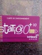 CARTE STATIONNEMENT CHIP CARD LE HAVRE NEUVE - PIAF Parking Cards