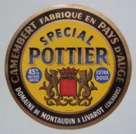 Etiquette Camembert - Spécial Pottier Jaune - Domaine De Montaudin Pays D'Auge 14 Normandie - Calvados   A Voir ! - Fromage