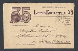 14-18 Lettre Enveloppe Les Vainqueurs De Demain Illustration Joffre De Collobrières Vers Secteur Postal 112 16/7/16 - Guerre De 1914-18