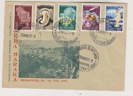 YUGOSLAVIA,1950 DUBROVNIK CHESS OLYMPIC  25.5. Cover - Storia Postale
