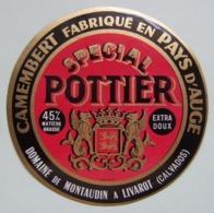 Etiquette Camembert - Spécial Pottier Rouge - Domaine De Montaudin Pays D'Auge 14 Normandie - Calvados   A Voir ! - Fromage