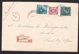 - 10 %  / Lettre Recommandé De Verviers  Lsc Enveloppe - 1946 -10%