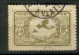 France 1923 - Oblitéré - Scanné Recto Verso - Y&T N° ?? - Meeting De Montpellier - Poste Par Avion - Luchtvaart