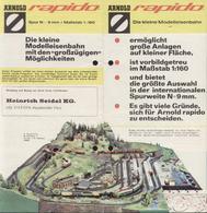 Catalogue ARNOLD RAPIDO 1969 ? Brochure Die Kleine Modelleisenbahn 1/160 - Allemand
