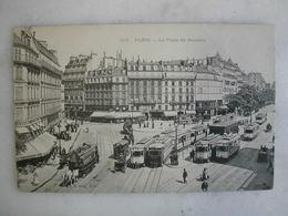 TRAMWAY - PARIS - La Place De Rennes (très Animée) - Tramways