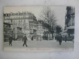 TRAMWAY - PARIS - Boulevard Saint Michel (très Animée) - Tramways
