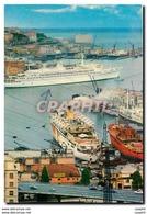 CPM Genova II Porto Con L'ammiraglia Della Flotta Italiana In Partenza - Schiffe