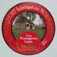 Etiquette Camembert - Bocage Normand - Fromagerie J.Hutin à Condé-s/Sarthe 61-G Normandie - Orne   Avoir ! - Fromage