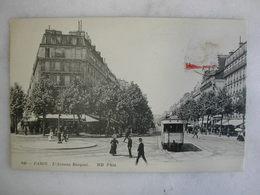 TRAMWAY - PARIS - L'avenue Bosquet (très Animée) - Tramways