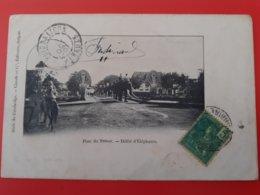 Cambodge - Pont Du Trésor - Défilé D'Eléphants - écrite En 1907 - Cambodge