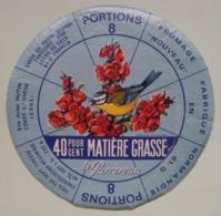 Etiquette Fromage 8 Portions - Le Passereau - Fromagerie J.Hutin à Condé-s/Sarthe 61-G Normandie - Orne   Avoir ! - Fromage
