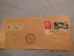 Devant D Enveloppe Recommande Cachet Du Porte Avions Clemenceau 29/01/1970 - Marcophilie (Lettres)