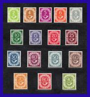 1951 - 1952 - Alemania - Scott Nº 670** / 685** -  MNH - Gran Lujo - Centrajes Perfectos - V. Catalogo 2.750 € - AL- 001 - Unused Stamps