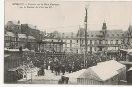 NOUZON  -  Concert Sur La Place Gambetta Par La Fanfare Du Club Des 20 - Autres Communes