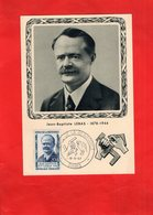 G0404 - Héros De La Résistance - Jean Baptiste LEBAS - 1878 -1944 ------ TIMBRE - Hommes Politiques & Militaires