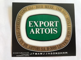 B4 Ancienne Étiquette BIÈRE BELGE EXPORT STELLA ARTOIS    BROUWERIJ STELLA ARTOIS GEBROUWEN TE LEUVEN VAARTSTRAAT - Etiquettes