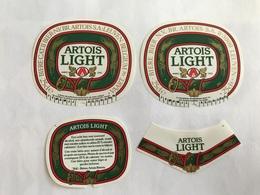 B4 Ancienne Étiquette BIÈRE BELGE  ARTOIS LIGHT STELLA ARTOIS    BROUWERIJ STELLA ARTOIS GEBROUWEN TE LEUVEN VAARTSTRAAT - Etiquettes