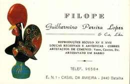 Calendrier Petit Format   Forme Carte  1990     FILOPE   Batalha Espagne - Calendriers