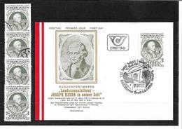 6049b: Österreich 1982, Joseph Haydn- Rohrau/ Bruck Auf Beleg Und 4mal ** Bzw. Gestempelte Briefmarken - Bruck An Der Leitha