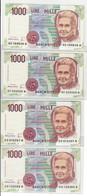 1000 Lire Montessori Serie Sostitutiva XE + XF + XG + XH Fds LOTTO 1870 - Collezioni