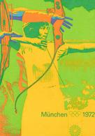 OFFIZIELLE OLYMPIA POSTER - SPIELE DER XX. OLYMPIADE - MÜNCHEN 1972 / XXth OLYMPIC GAMES : ARCHERY (ae507) - Archery