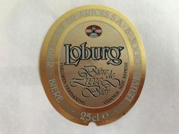 B4 Ancienne Étiquette BIÈRE BELGE LOBURG  STELLA ARTOIS    BROUWERIJ STELLA ARTOIS GEBROUWEN TE LEUVEN VAARTSTRAAT - Etiquettes
