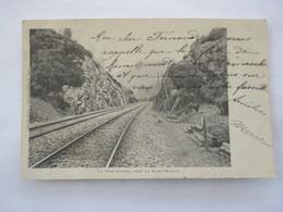 SAINT NABORD_La Voie Ferrée_dos Non Divisé Voyagée En 1904 - Saint Nabord