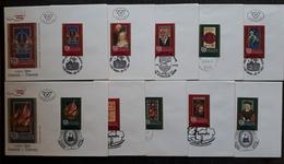 1000 Jahre Österreich, FDC 10 Briefe + Block Gestempelt - 1991-00 Storia Postale