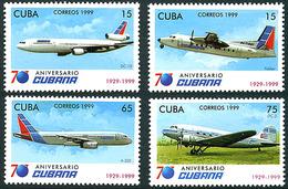 Cuba Kuba 1999 Cubana 70 Years Fokker Friendship  Douglas DC-10 DC-3 Airbus A-320 - Aerei