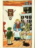 Carte Postale - Illustration Jos. Lada    -  Famille Grands-Parents Et Enfant - Autres