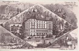 MONTREUX (Suisse). Hôtel Pension Breuer, Illustration Des Différants Sites Aux Alentours - VD Vaud