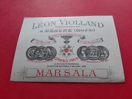 ETIQUETTE ANCIENNE / MARSALA / LEON VIOLLAND PROPRIETAIRE RECOLTANT A BEAUNE ( Côte D' Or ) - Zonder Classificatie