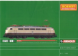 Catalogue ARNOLD HORNBY Interational Edition 2007 N 1/160 - Allemand
