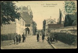 St Mandé 94 Rue De L'Alouette 213 Très Animée  Phono Photo1907 - Saint Mande