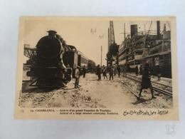 CPA MAROC - CASABLANCA - 14 - Arrivée D'un Grand Paquebot De Touristes - Casablanca
