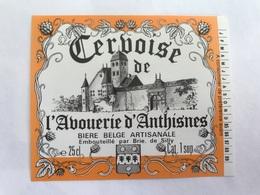 B4 Ancienne Étiquette BIÈRE BELGE CERBOISE DE L'ABOUERIE D'ANTHISNES BRASSERIE  BROUWERIJ DE SILLY - Etiquettes