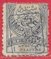 Turquie Journaux N°4 1P Bleu & Gris (surcharge Noire) 1891 O - Oblitérés