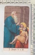 Santini - Image Pieuse Holy Card Fustellato Antico S. Biagio Vescovo E Martire - Devotion Images