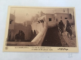 CPA MAROC - CASABLANCA - 17 - Un Coin Du Quartier Réservé - Casablanca