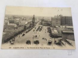 CPA MAROC - CASABLANCA - 129 - Vue Générale De La Place De France - LL - Casablanca