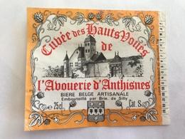 B4 Ancienne Étiquette BIÈRE BELGE CUVÉE HAUTS VOUÉS L'ABOUERIE ANTHISNES BRASSERIE  BROUWERIJ DE SILLY - Etiquettes