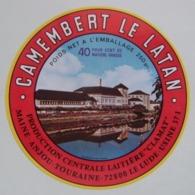 """Etiquette Camembert - Le Latan - Centrale Laitière """"Clamat"""" Le Lude 72 Maine - Sarthe   A Voir ! - Fromage"""