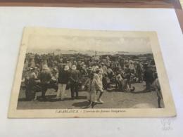 CPA MAROC - CASABLANCA - L'arrivée Des Femmes Sénégalaises - Casablanca