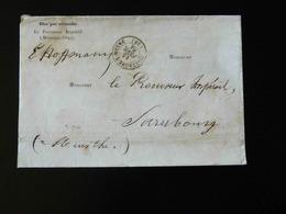 LETTRE DU PROCUREUR IMPERIAL A MORTAGNE POUR LE PROCUREUR IMPERIAL DE SARREBOURG  -  1864   - - 1877-1920: Semi Modern Period