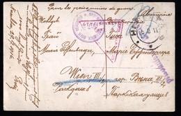RUSSIA RUSSLAND WWI 1916 - NERECHTA NEREKHTA NEREHTA - POW - PHOTOCARD OF PRISONER - SHIPPED TO WIEN - Guerra 1914-18