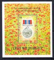 1995 Samoa End Of World War II Medal  JOINT ISSUE Souvenir Sheet MNH - Samoa