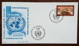 Nations-Unies / Genève - FDC 1970 - YT N°6 - Emblème De L'ONU Sur Globe - FDC